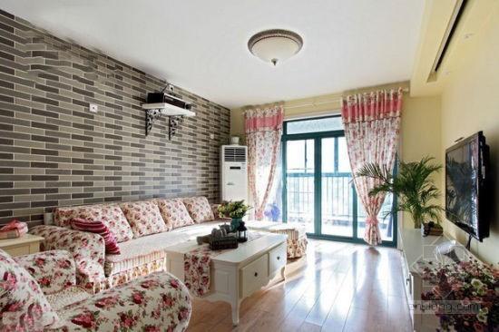 小户型浪漫田园三居室色彩美家室内设计