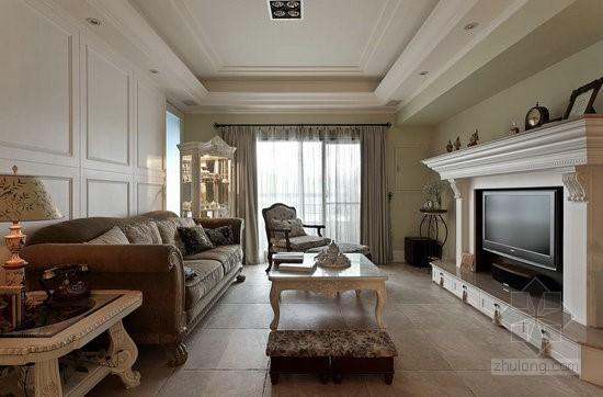 惬意居家打造150平复古美式乡村美宅室内设计