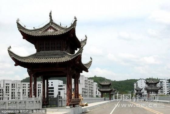 婺源建徽式六亭景观廊亭桥 工程造价3000万