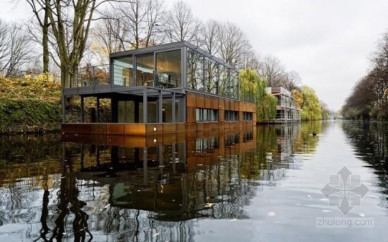 德国建筑事务所sprenger von der lippe设计的eilbek运河水上住宅