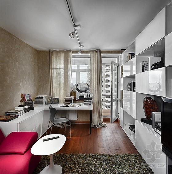 高级灰色调下的极简主义现代住宅室内设计