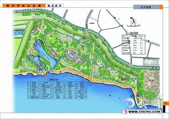 荆州市滨江公园打造多功能景观风光带