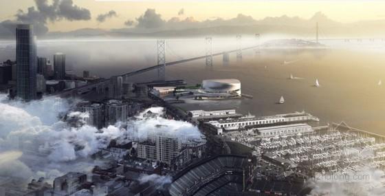 snøhetta & AECOM设计的洛杉矶金州勇士体育场