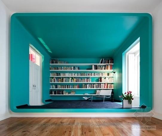 葡萄牙彩色的线条住宅装修设计