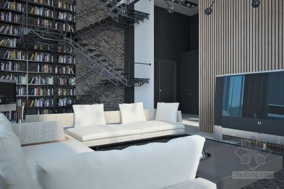 现代感公寓资料下载-乌克兰设计师现代感十足的公寓设计
