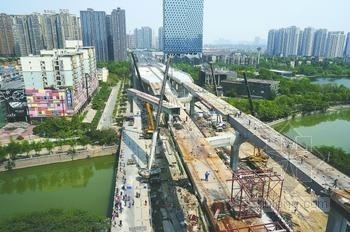 全长28.3公里的环形高架桥全线贯通