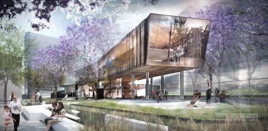 """ASPEC的澳大利亚""""绿荫广场图书馆""""参赛作品"""
