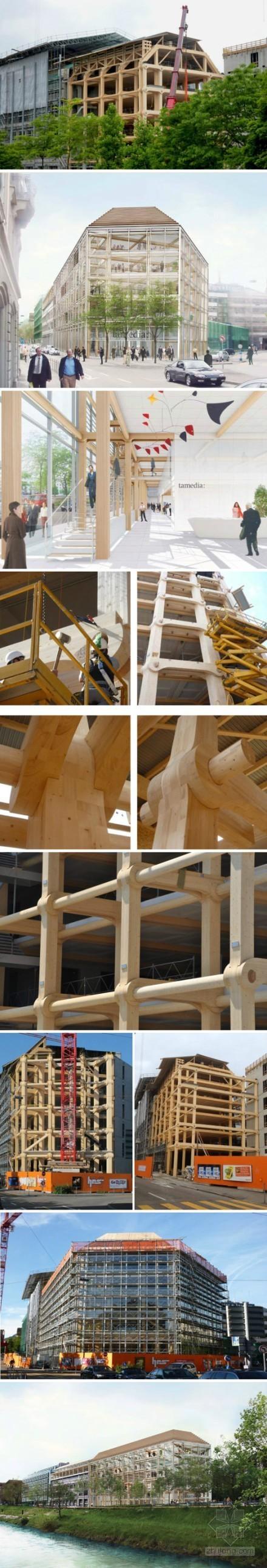 日本设计全木榫卯框架结构大楼(图)