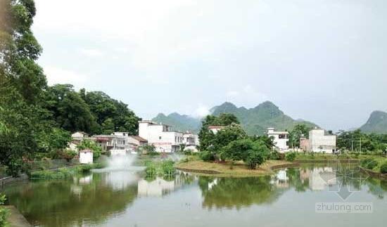 """上林县""""文娱广场+污水处理设施""""让村庄更美丽"""