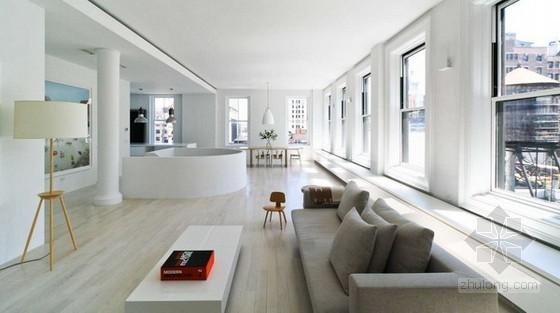白色极简风格公寓装修设计