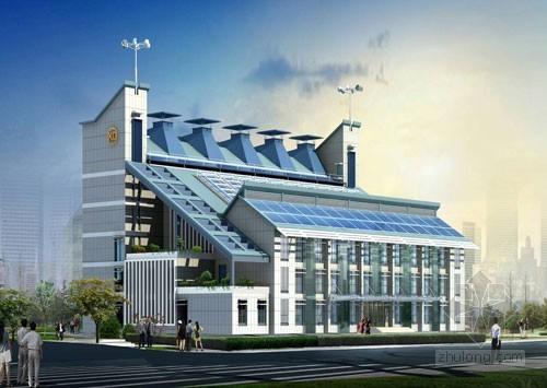 """绿色建筑""""双零楼"""":十三种节能减排技术展示"""