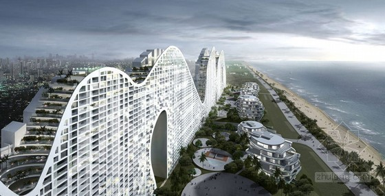 MAD设计的中国海岸线:假丘陵建筑