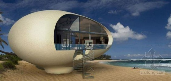 """设计师造屋顶发电""""蛋形生态房""""可浮于水面"""