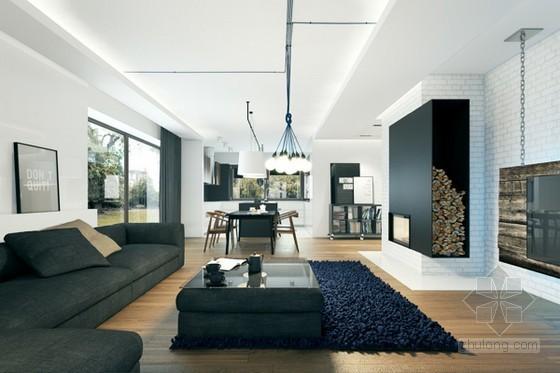 现代感公寓资料下载-波兰现代公寓装修设计 空间的层次感强