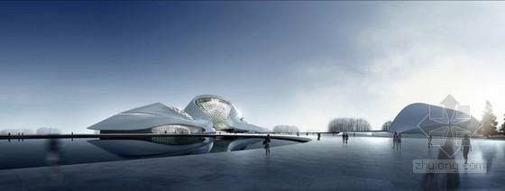 马岩松设计的哈尔滨文化中心主体结构封顶