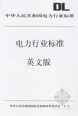 水电行业首套规模最大最全的英文标准出版发行