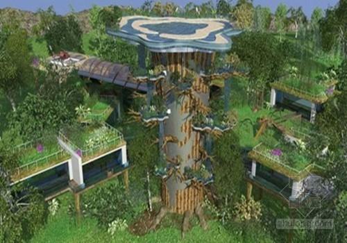 """18亿""""梦幻树屋""""夺世上最复杂建筑 树顶建游泳池"""