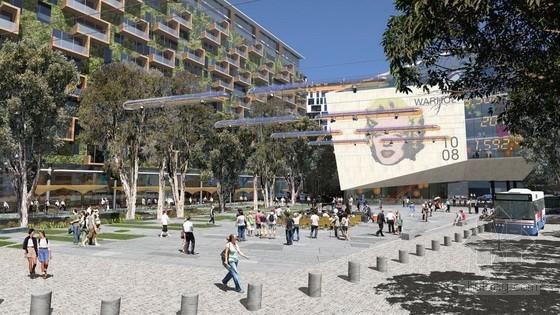 悉尼绿色广场城镇中心公共区域规划设计