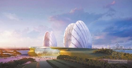 """中国唯一海岛歌剧院""""小贝壳""""主体结构封顶"""