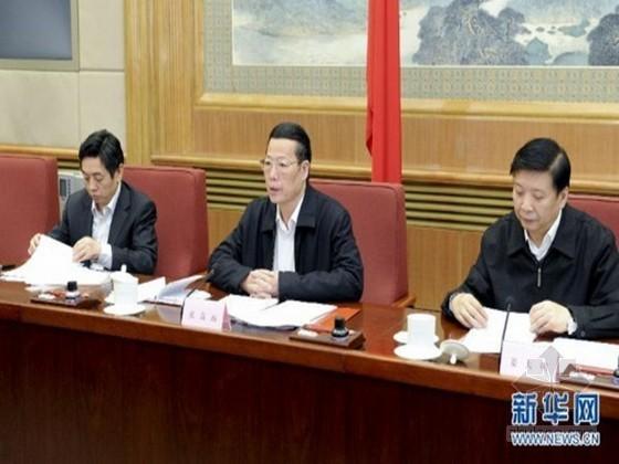 张高丽和第十三次李四光地质科学奖获奖者座谈