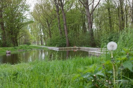 自然式驳岸 荷兰费尔森市Wijkeroog公园