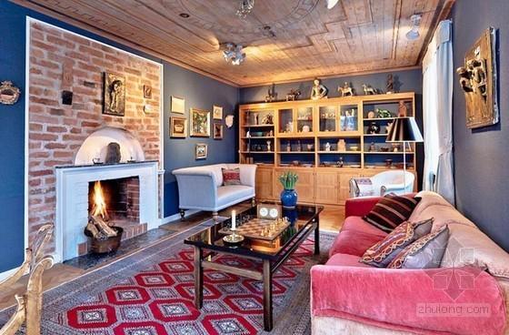 欧式乡村风格装修资料下载-瑞典复古乡村风格公寓设计 氛围十足