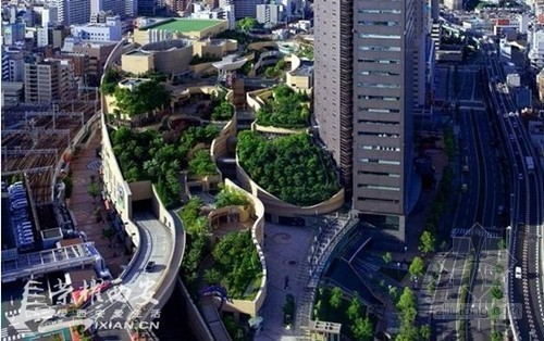 城市综合体的典范:日本难波公园