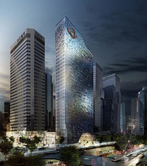 UNStudio设计首尔塔建筑立面