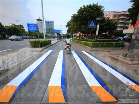 广西第一条3D斑马线落户柳州 效果逼真路人称赞