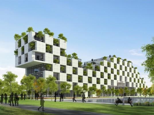 Vo Trong Nghia设计的FPT大学行政楼