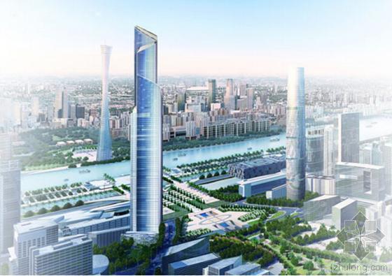 广州第一高楼东塔封顶 止步530米