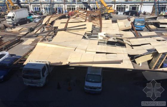 北京违建钢构库房未拆先塌 2人受伤