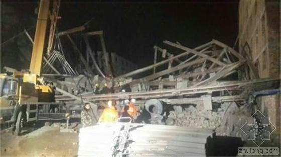 自建七层民房突然坍塌 15名工人被埋
