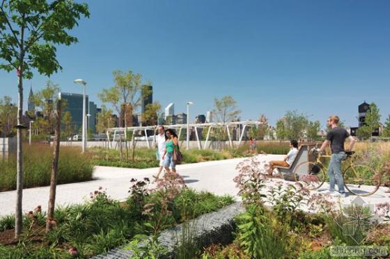 """""""可复原性设计""""的典范 纽约皇后区猎人角滨水花园"""