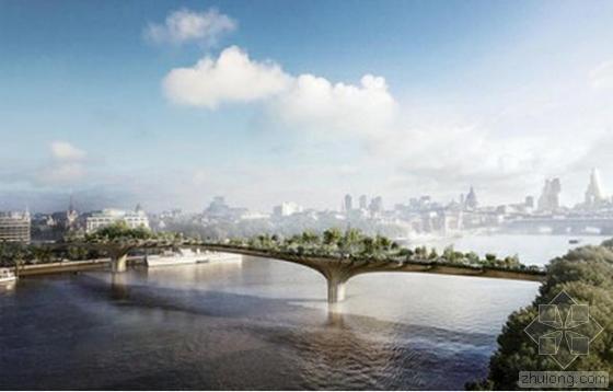 """伦敦泰晤士河拟建""""花园式""""步行桥"""