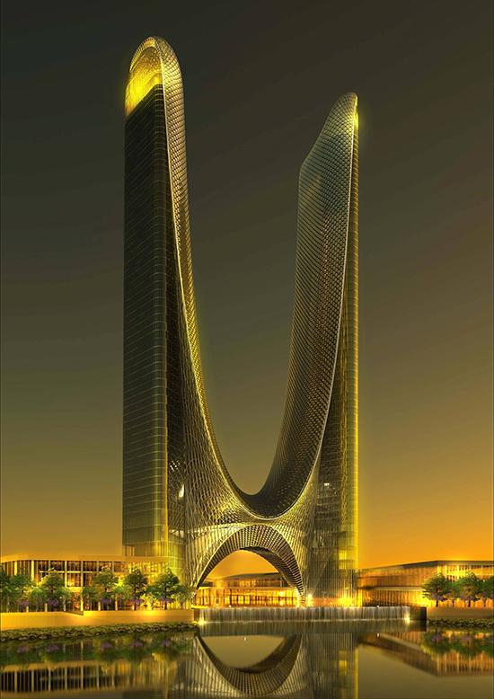 """绿地百亿建第24座超高层地标 """"长三角最高双塔"""""""