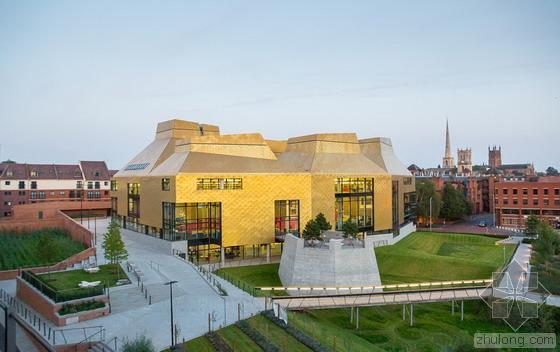 英国伍斯特大学新景观 蜂巢图书馆雨水花园