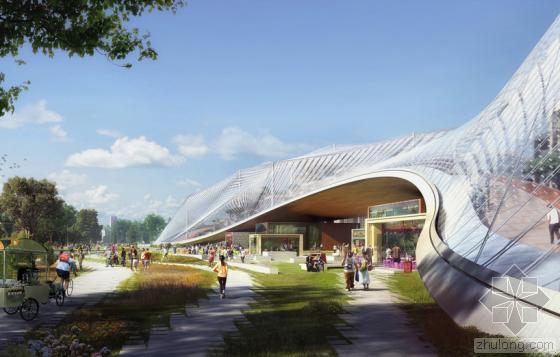 谷歌新园区规划曝光——透明顶棚的温室造型建筑物