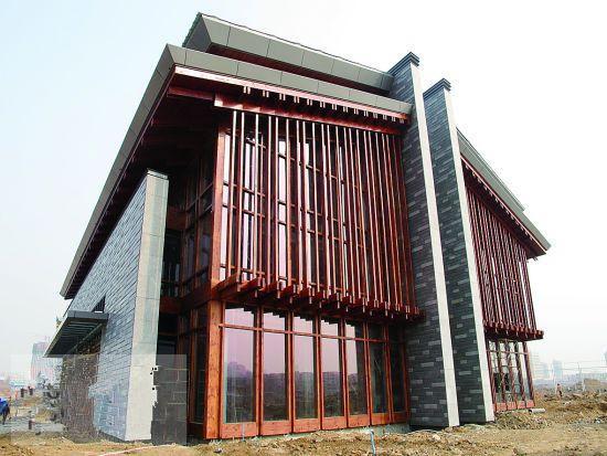 洛阳九洲池公园首个唐风建筑主体建成 总投资80亿