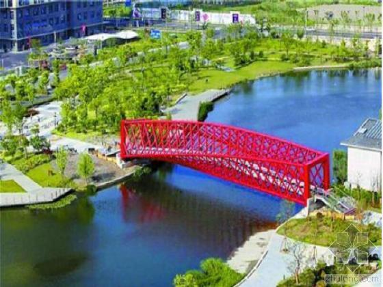 国内首座钢结构螺旋景观桥竣工