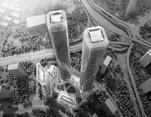 杭州将投资40亿建280米高的双子塔 成杭州最高建筑