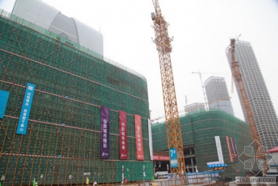 """地标项目苏州最大城市综合体""""苏州中心""""封顶"""