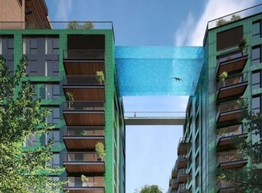 """伦敦高楼间建""""天空游泳池"""" 造价100亿元"""