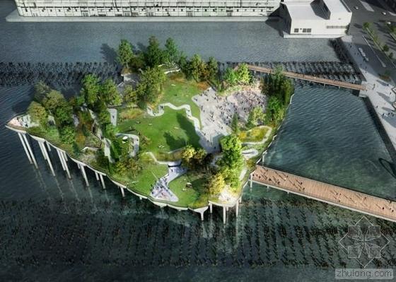 """美国将斥巨资建造 纽约哈德逊河""""金银岛""""公园"""