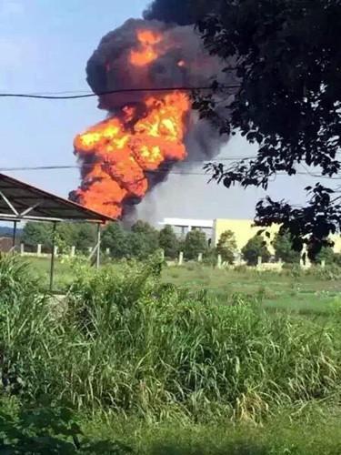 九昌樟成品油输送管道发生燃油(柴油)起火