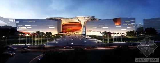 上海市BIM试点工程-世博会博物馆项目主体结构封顶 BIM技术降本增效