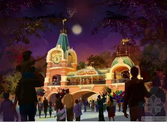 上海迪士尼乐园景观方案 萌呆酷炫!