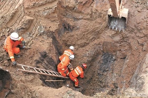 泉州一工地土方坍塌 1名工人被埋6米桩基井底遇难