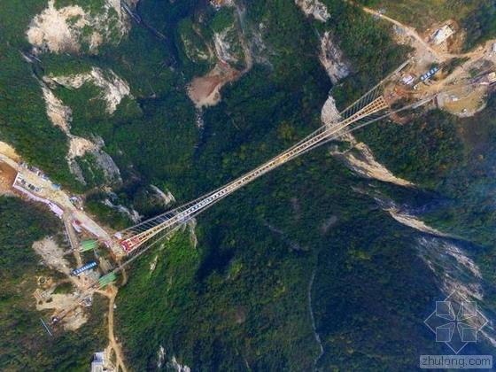 张家界大峡谷最长玻璃桥合龙 创多项世界之最