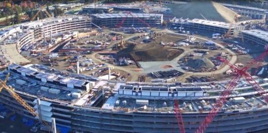 高大上!苹果飞船总部大楼曝光 已初见雏形